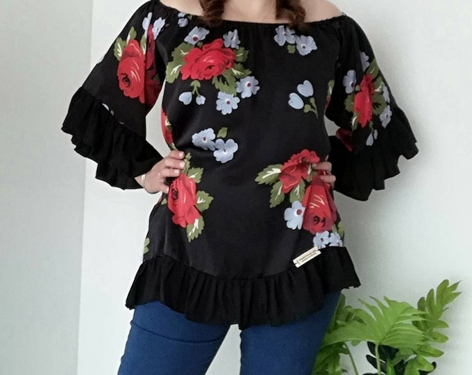 Floral Tunic, Womens clothing, Blouses, Summer Clothes, Plus Size