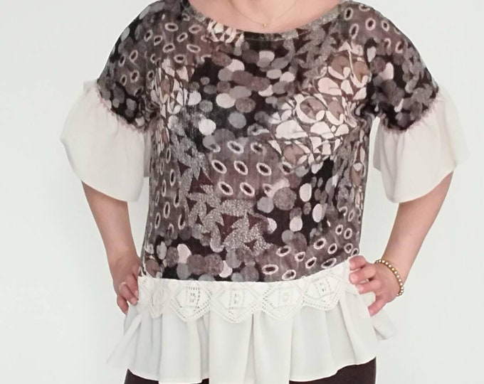 Blouses, robe model Amelia, Womens clothing, Tunic, Handmade Tunic, party blouse, Tops and Tees, party blouse, personalized blouse, tunic