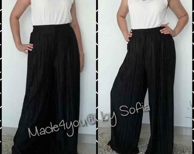 Black Pleated Pant, Pantaloon, Pants, Pluz Size fashion, Womens clothing