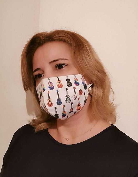 Guitars Model Mask, Washable mask, Reusable face mask, Cotton mask, Travel mask, Anti Dust mask, Stoffmaske, Fabric Facemask