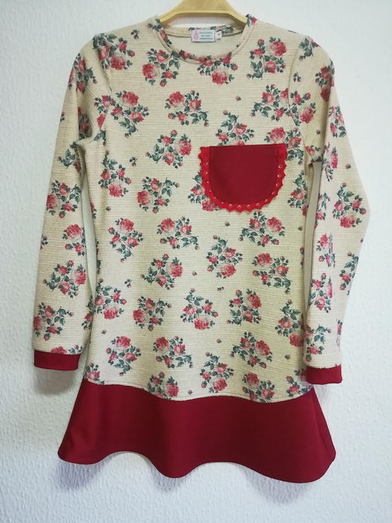 Floral Tunic, custom clothing, Christmas Time, Women's clothing, Blouses, Handmade clothes, sweaters, women's clothing, crafts