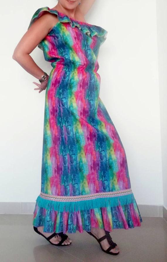 cotton Long dress Style Boho clothing dress cotton Women's dress Long 100 Efwfqr