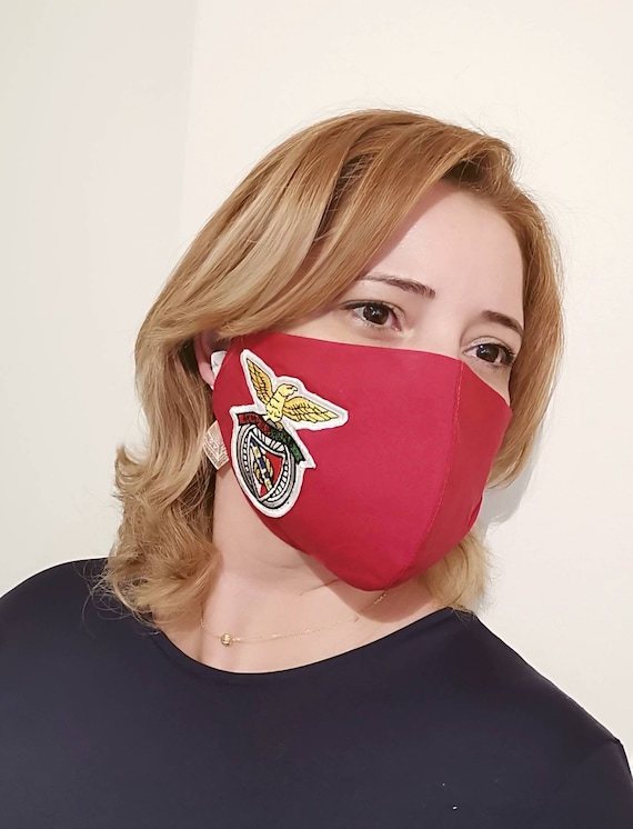 Benfica Red Model Mask, Washable mask, Reusable face mask, Cotton mask, Travel mask, Anti Dust mask, Stoffmaske, Fabric Facemask