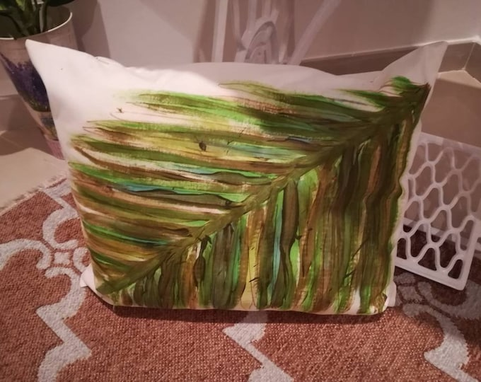 Hand painted cushion, decorative pillow, pillow, Home & Living