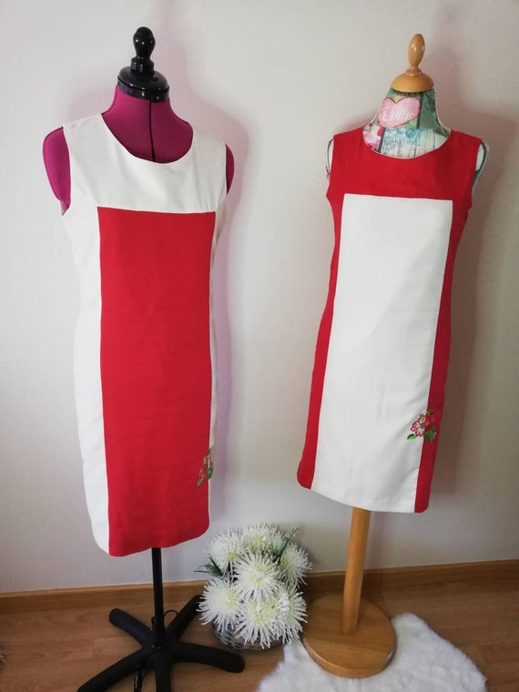linen dress, summer dress, women clothing, red, dresses, women dress