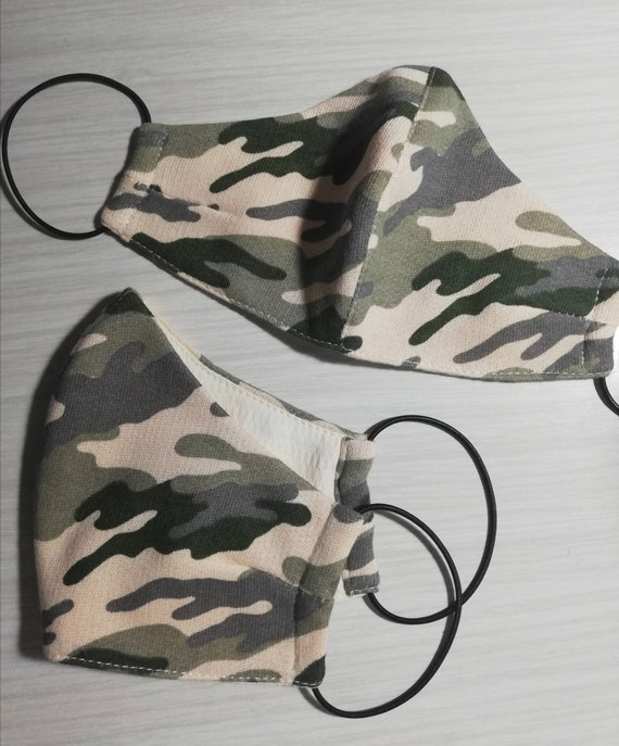 Camouflage fabric mask, Face mask, Washable mask Reusable face mask Cotton mask Travel mask Anti Dust mask,nStoffmaske, Maske