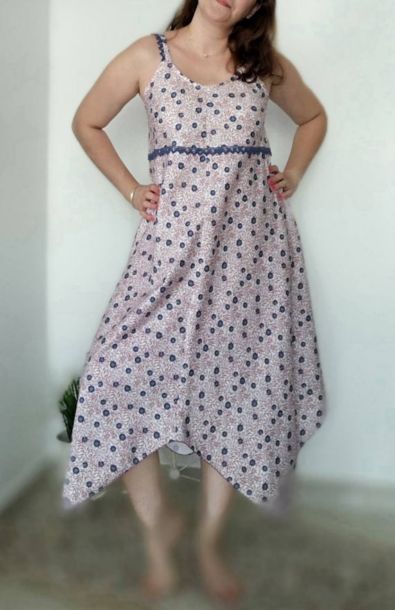 Dress with nozzles, summer dress, fluid dress, Summer dress, Wedding dress, Handmade dress, Women fashion, Dresses, Beach dress, Womens