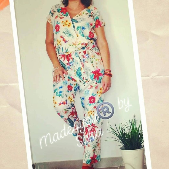 Jumpsuits and Rompers, Floral jumpsuit, Womens clothing, Women fashion, Summer Jumpsuit, Handmade clothes