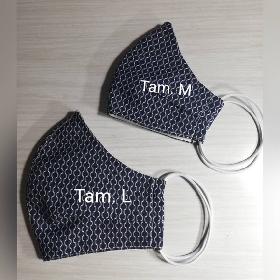 Blue mask, fabric face mask, Washable mask