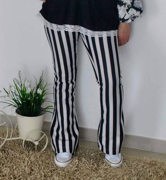 Striped pants, pants, trousers, Women's Clothing, Handmade Clothes, trousers cowboy style, Country, Pantaloon, trousers