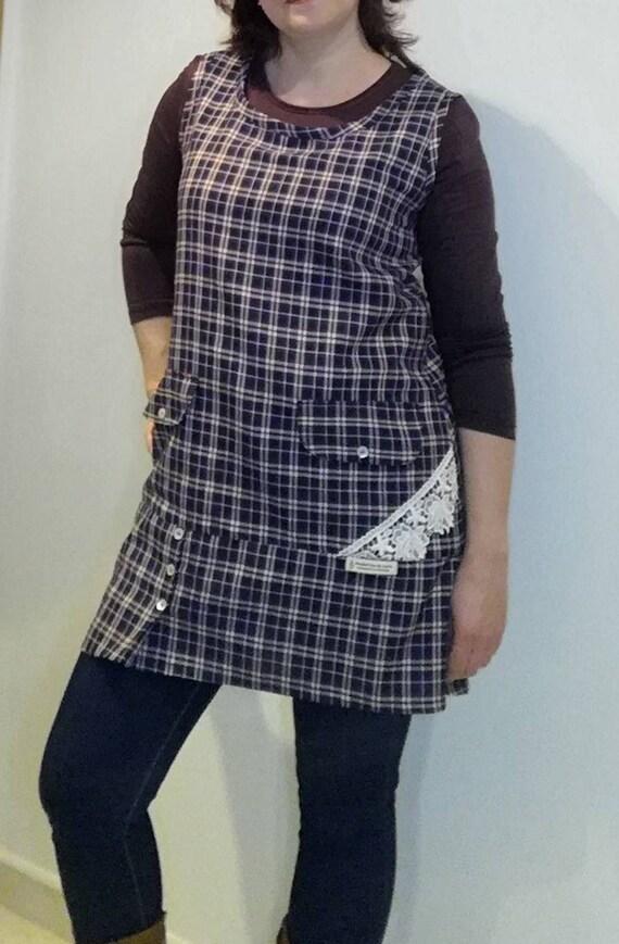 Dress for Women, Dress, Vestido xadrez, Women's clothing, Vintage Dress