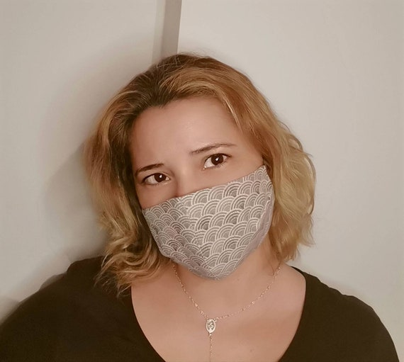 Grey Circles Model Mask, Washable mask, Reusable face mask, Cotton mask, Travel mask, Anti Dust mask, Stoffmaske, Fabric Facemask
