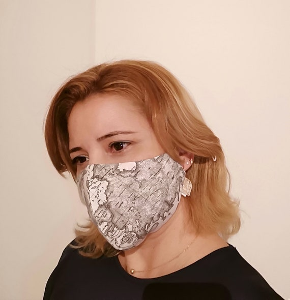 Mask Model World, Washable mask, Reusable face mask, Cotton mask, Travel mask, Anti Dust mask, Stoffmaske, Fabric Facemask