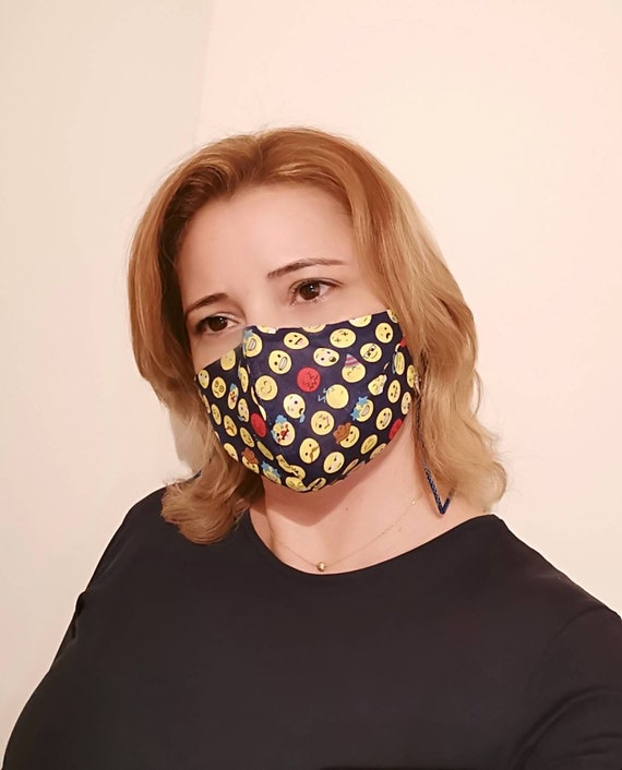 Smiles Model Mask, Washable mask, Reusable face mask, Cotton mask, Travel mask, Anti Dust mask, Stoffmaske, Fabric Facemask