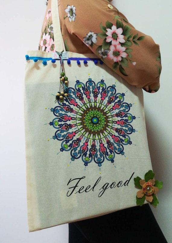 Hand-painted cloth bag, cloth bag, eco-friendly bag, Handbags, beach bag, crafts, Women's Bags, Fabric bag, eco bag