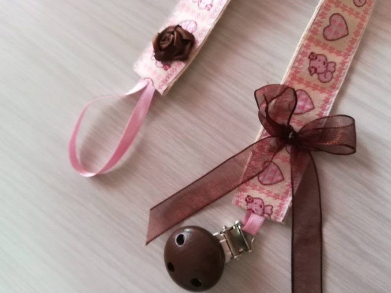 baby dummy clip soother Chucha ribbons baby/'s