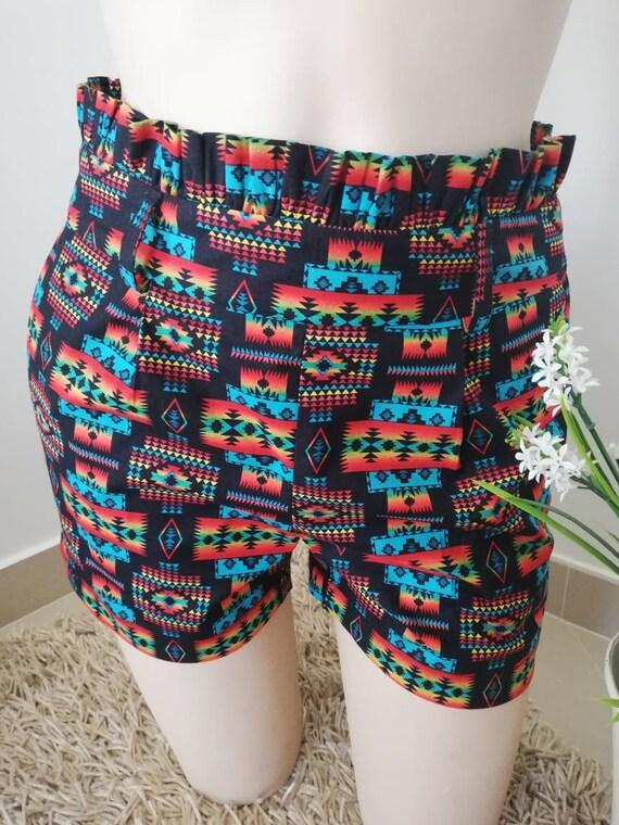 Shorts Fru-Fru Costume 100% cotton, denim, Womens Clothing, Women fashion, short, women's shorts, Summer shorts
