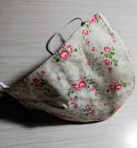 Floral fabric mask, Washable mask