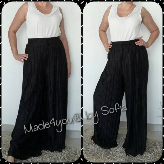 Black Pleated Pant, Pantaloon, Pants, Pluz Size fashion, Womens clothing