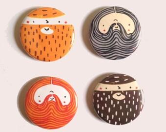 Beardy Boys - Magnet Set
