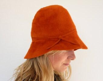 Feltro cloche cappello marrone cfbbe3ce1469