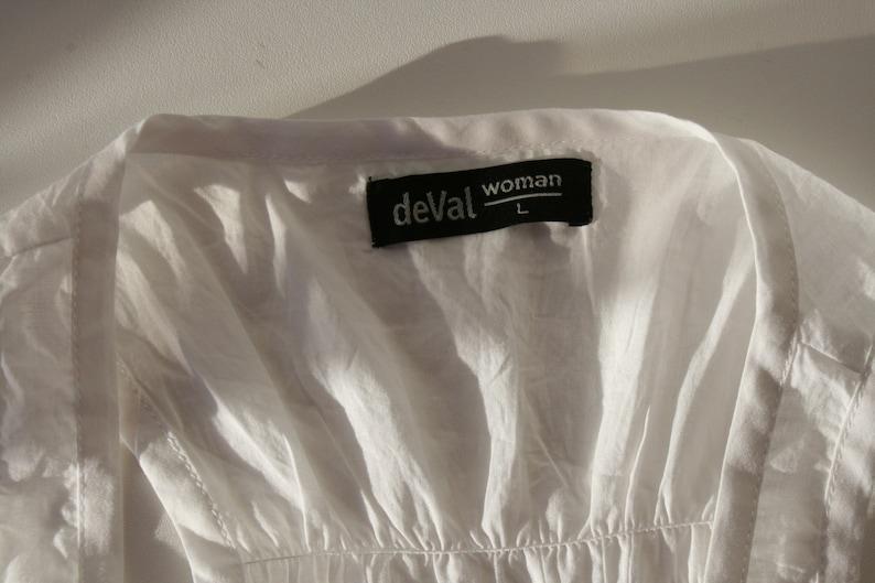 White Cotton Tunic Sleeveless  White Summer Blouse Boho Hippie Folk Style  Feminine Sleeveless Summer Buttons up  Cotton Dress Medium Size