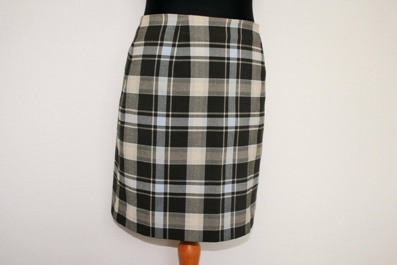 a773c0de86c1 Plaid Skirt Tartan Black White Gray Skirts STREET ONE   Etsy