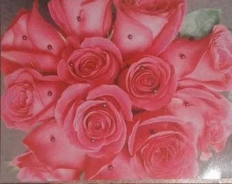 Polka dot roses magnet