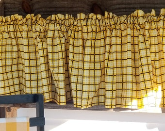 Kravet Burnet Natural By Thom Filicia Lined Scalloped Rod Pocket Valance Linen Window Valance  Corded
