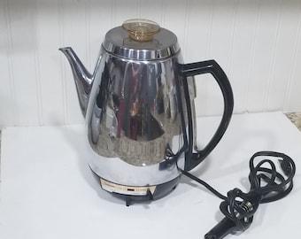 Coffee Maker Atomic Percolator Coffee Percolator 1970s coffee maker Sunbeam Percolator 30 Cup Percolator Mid Century Modern