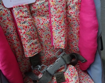 Comfort kit sit stroller stroller stroller - straps cover - protective-crotch true fabric LIBERTY of LONDON