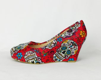 Purple shoes purple skull shoes women shoes sugar skulls  a74d8d3f592