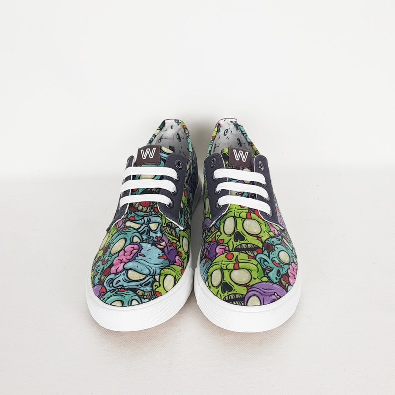 gift for him Men shoes cartoon zombies geek shoes husband gift tattoo gift zombie shoes fathers day gift unique men shoes boyfriend