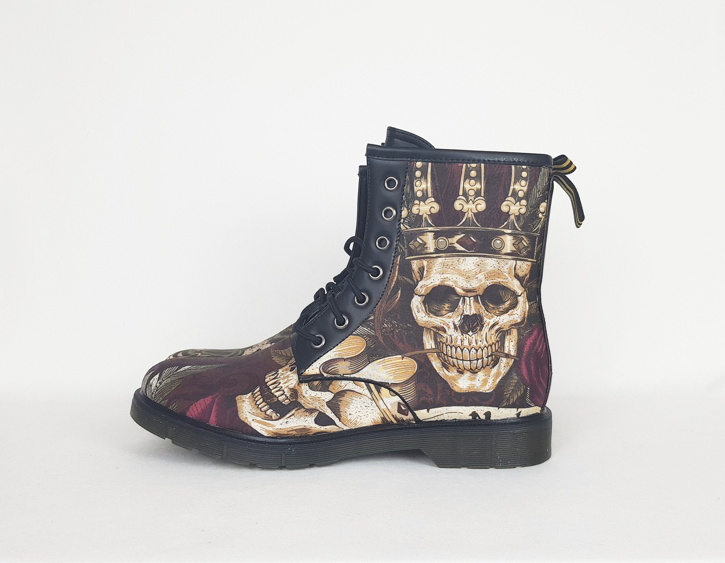 1e9520c7e568 Men boots gothic men skulls men shoes gift for him fathers