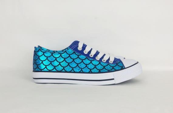 Mermaid shoes, custom shoes, women shoes, mermaid clothing , custom mermaid shoe, alternative, converse style pumps, gift for her, fairy kei