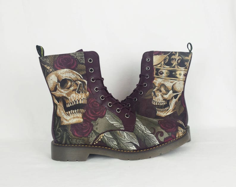 cece126cf768 Skull boots custom shoes steampunk shoes steampunk boots