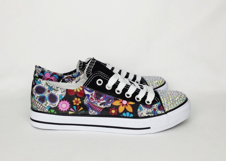 ec64f4a96d68 Day of the dead custom shoes women shoes sugar skull shoes