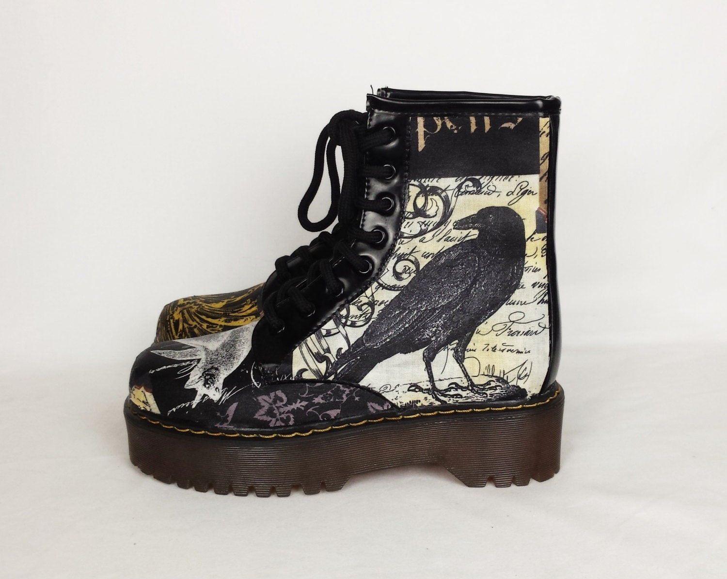 Crow Shoes Nevermore Goth Shoes Alternative Women Shoes