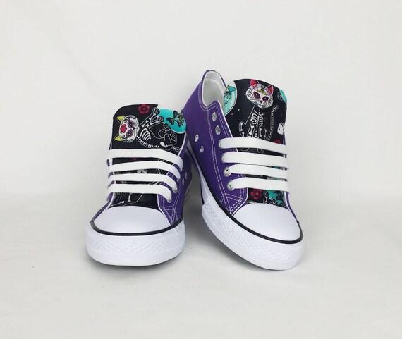 85baf686408 Cat shoes pastel goth funky shoes skeleton cat women   Etsy