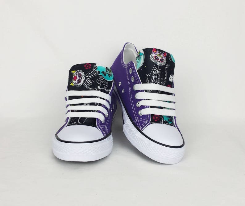 d934314d1 Cat shoes pastel goth funky shoes skeleton cat women | Etsy