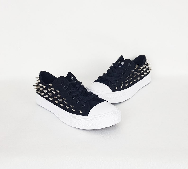 67f4a4397cdc Gothic flats spiky shoes custom pumps women shoes studs