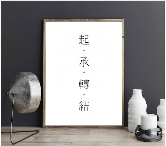 bts love yourself chinese characters 起 承 轉 結 typography etsy bts love yourself chinese characters 起 承 轉 結 typography digital download file home decor art gift ideas kpop