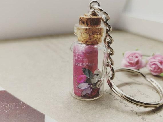 Map of Soul BTS Glass Jar Necklace Keychain Lyrics Persona Mini V Jimin  Jungkook RM Suga Jhope Jin KPOP Korean Jewellery 방탄소년단