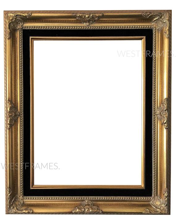West Frames Estelle Antique Gold Leaf Wood Baroque Picture   Etsy