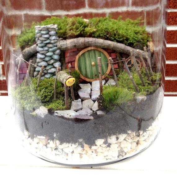 Hobbit House Fairy Garden Or Terrarium Set Handmade Etsy