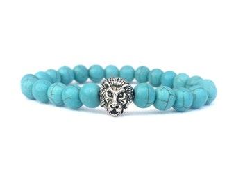 53mm Blue Drop Turquoise Gemstones 925 Silver Necklace Healing Chakra Protection Yoga  Zodiac Scorpio Sagittarius Aquarius Pisces Necklace