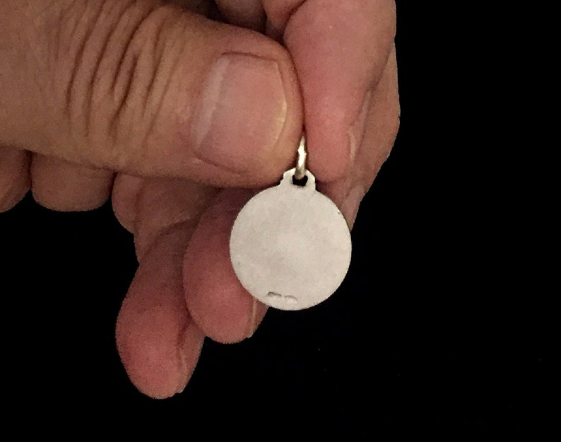 Guardian Of The Universal Church 925 Silver Italian Pendant Saint Michael  Archangel 16mm Size 3D Design Medal Patron Saint Of Policemen