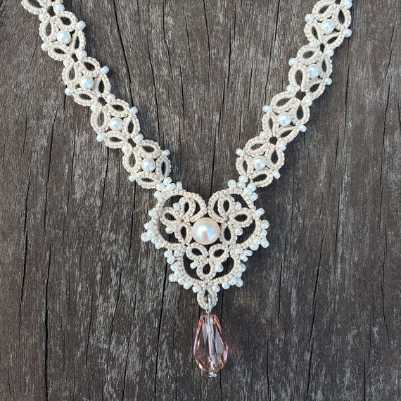 Edwardian Jewelry | Downton Abbey Earrings, Necklaces, Rings Pattern: Somewhere in Time Necklace $1.93 AT vintagedancer.com