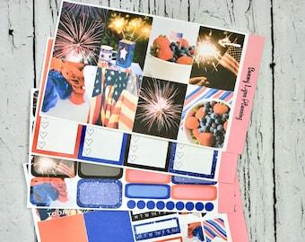 4th of July Weekly Kit/A La Carte - EC Vertical/EC Horizontal/Happy Planner