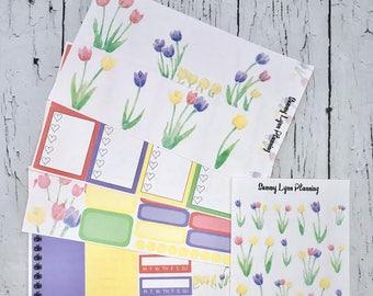 Tulips Weekly Kit/A La Carte - EC Vertical/EC Horizontal/Happy Planner